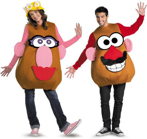 His N Hers Halloween Costumes (Toy Story Mr. or Mrs. Potato Head Deluxe Halloween Costume - Adult Size X-Large 42-46)