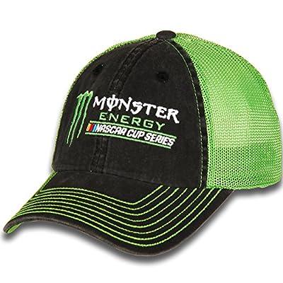 Checkered Flag Kurt Busch Monster Energy Vintage Trucker Adjustable Hat Black from Checkered Flag Sports