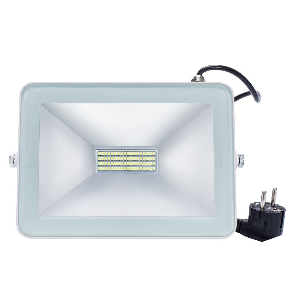 Solla® Foco proyector LED 50W para exteriores, Blanco Cálido 3200K ...