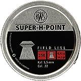 Umarex RWS Super H Point 2317382 Field Line 14.2 Grain Air Gun Pellets, 0.22 Caliber, Silver