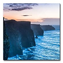 Beautiful Cliffs Of Moher At Sunset In County Clare Ireland Europe Seascape Coast Print On Canvas Modern Canvas Painting Wall Art The Picture For Home Decoration