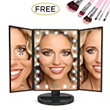 THE BEST MAKEUP MIRROR BUNDLE That Comes With A Bonus Free 7 Piece Makeup Brush Set, 1 X Extra Long USB Cable 59 IN /150 CM Not Like All Others That Are Only 39 IN/100 CM YOU ARE BEAUTIFUL, STAY PERFECT With 3 Different Magnification Mirrors...
