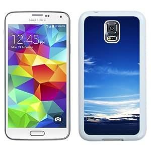 NEW Unique Custom Designed Samsung Galaxy S5 I9600 G900a G900v G900p G900t G900w Phone Case With Scattered Clouds Sky_White Phone Case