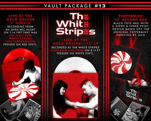 (Third Man Records VAULT Package #13: The White Stripes 'Live At The Gold Dollar' White Vinyl LP, 'Live On Bastille Day' Red Vinyl 7