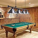 Wellmet 3 Light Pool Table Light, Vintage Retro