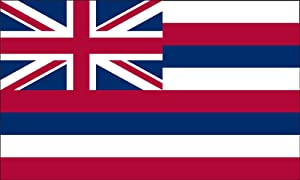 Valley Forge, Hawaii State Flag, Nylon, 5'x8', 100% Made in USA, Canvas Header, Heavy-Duty Brass Grommets