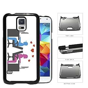 Social Media Computer Nerd Lovers Hard Plastic Snap On Cell Phone Case Samsung Galaxy S5 SM-G900