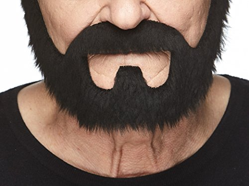 Mustaches Self Adhesive, Novelty, On Bail Fake Beard, False Facial Hair, Costume Accessory for Adults, Black ()