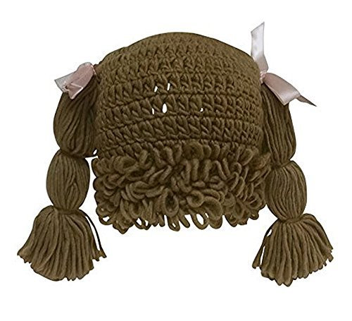 The Lilly Hat Woven Yarn Hair Hat - Adult Size - Light Brown -