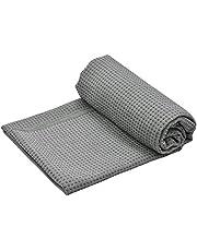 Fangehong Antislip Yoga Mat Handdoek voor Hot Yoga, Grote Microvezel Pilates Mat Cover met handgrepen, Bikram Yoga Mat Handdoek Cover met Draagtas voor Reizen
