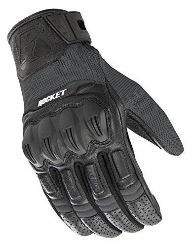 Rocket Mesh Joe Black Glove (Joe Rocket Men's Phoenix 5.1 Hybrid Motorcycle Glove (Grey/Black, Large))