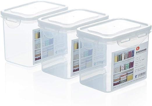 Plástico Transparente Caja De Alimentos De La Cocina Del Refrigerador De La Cocina Del Refrigerador De La Fruta Caja De Almacenamiento De La Ensalada De La Tuerca Del Grano Contenedor Sellado Paquete: