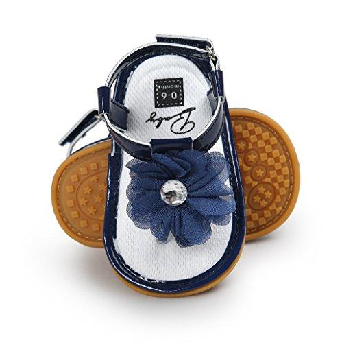 Baby Schuhe Auxma Baby Mädchen Blumen Sommer Sandalen Anti-Rutsch-Krippe Schuhe Für 3-18 Monate (3-7 M, Rosa) Blau