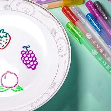 Syfinee Jelly Candy Gel Pen Jelly Line Gel Pen 3D Glossy Jelly Ink Pen Waterproof Fade-Proof for DIY Album Card Scrapbooks Writing Drawing 6//12Pcs