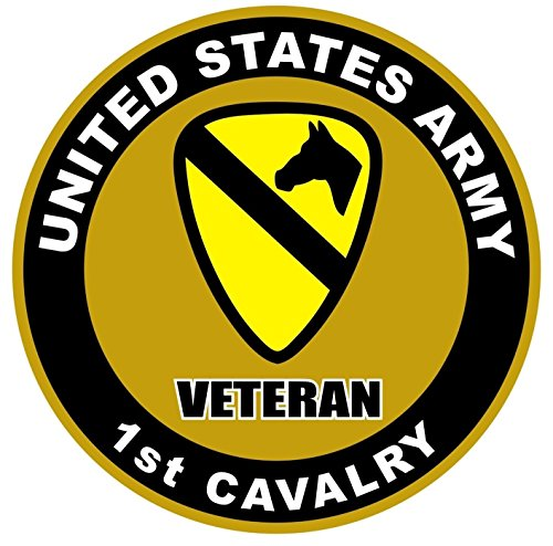 - Chiam-Mart 1 Set Eloquent Unique United States Army Veteran 1st Cavalry US Sticker Sign Military Home Doors Laptop Stickers Wall Hoverboard Bike Patches Decals Window Graphics Decal Size 4