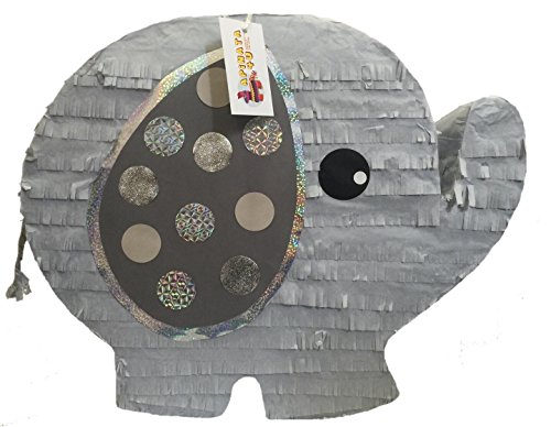 APINATA4U Gray Baby Elephant Gender Reveal Pinata]()