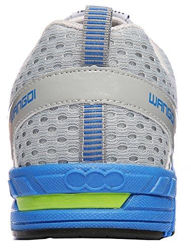 ROMENSI Männer Leichtathletik-Trainings-Laufschuhe beiläufige Breathable gehende Tennis-Turnschuhe Grau