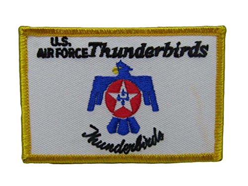 - ALBATROS U.S. Military Air Force Thunderbirds Flag Iron On Patch for Home and Parades, Official Party, All Weather Indoors Outdoors