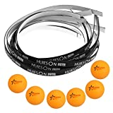 Dovewill Pack of 6 Table Tennis Balls Replacement Balls + 10 Pcs Racket / Paddle / Bat Edge Tape Premium Quality