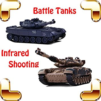 Amazon New Coming Gift COLLIDE Russia T90 Battle Tanks 8 Channel 1 24 RC Tank Electric Infrared Shooting Toy Model Fight Machine Baby