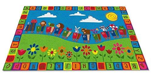 Kid Carpet FE734-44A On The Train Nylon Area Rug 7'6 x 12' Multicolored [並行輸入品]   B07HLFRHHD