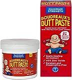 Boudreaux's Butt Paste Diaper Rash Ointment Home & Travel Kit | Maximum Strength | 14 oz. Tub and 2 oz. Tube | Paraben & Preservative Free