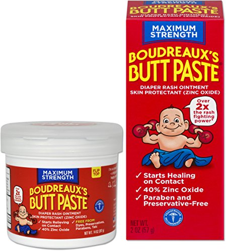 Boudreaux's Butt Paste Diaper Rash Ointment, Maximum Strength, 14 Oz and 2 Oz
