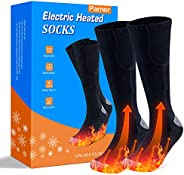 Heated Socks, Double-Sided Heated Electric Socks 3000MAH Camping Foot Warmer 3-Gear Thermal Battery Socks, Rec