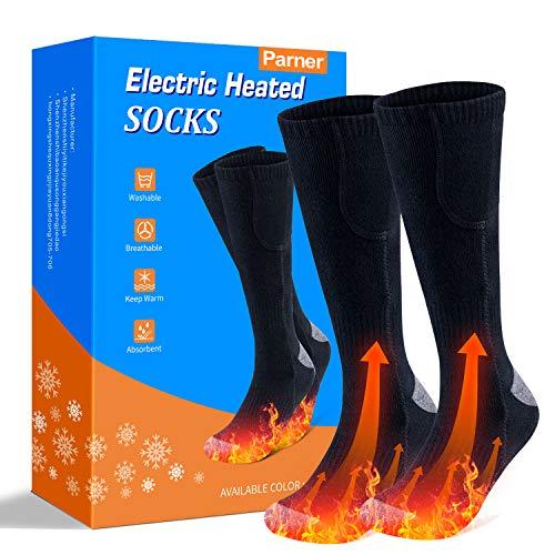 etship Beheizte Socken, Elektrische Warme Socken, Elektrische Wiederaufladbare Batterie Thermische Socken, Fußwärmer Socken Heated Socks mit 3 Dateien Einstellbarer Temperatur für Damen Herren.