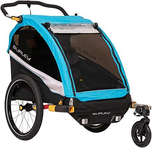 Burley D'Lite X, 2 Seat Kids Bike Trailer & Stroller (Best Bike Trailers 2019)