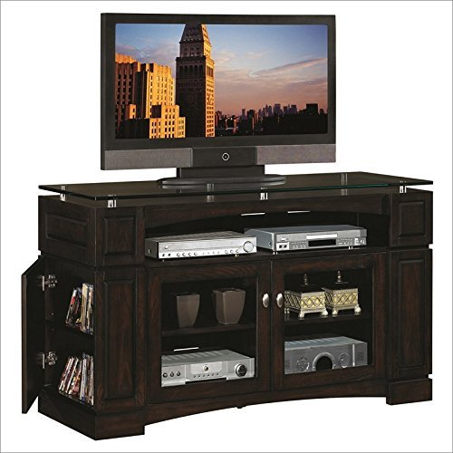 Celena Media Console in Ash Espresso - Plasma Console Furniture