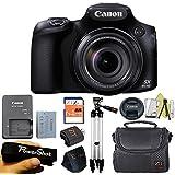 Canon Powershot SX60 16.1MP Digital Camera 65x Optical Zoom Lens 3-inch LCD Tilt Screen + Case + 64 GB Card + Reader + 6pc Starter Set + Tripod