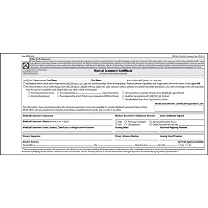 photo about Mcsa-5875 Printable Form called : Professional medical Evaluation Certification - Laminated