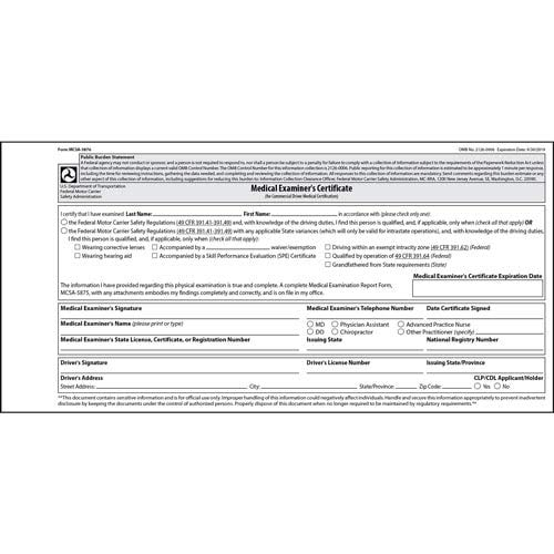 Medical Card Forms - 2