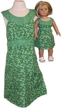 サイズ14 Matching Girl Girl サイズ14 and Dollsグリーンドレス B0100XOH82 B0100XOH82, アザイチョウ:4b87e591 --- arvoreazul.com.br