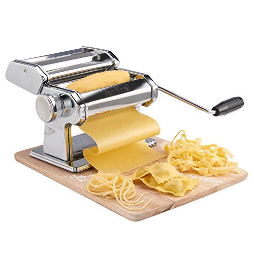 vonshef 3in1 stainless steel pasta maker with 3 cut