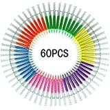 Bokit 60pcs Syringe Highlighters Fluorescent Injector Needle Watercolor Pen 6 Colors