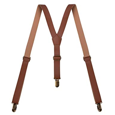 details for limited price footwear A.P. Donovan - Leather Braces | Clip leather suspenders in Y ...