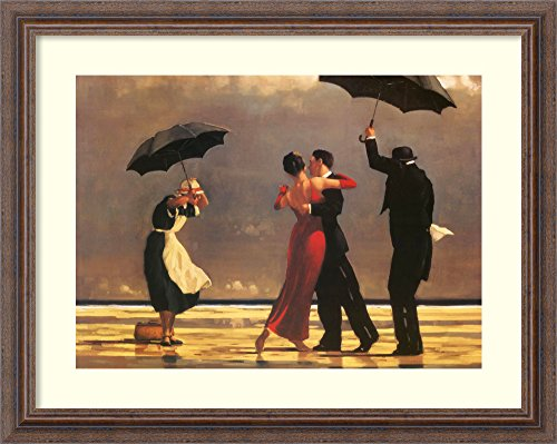 - Framed Art Print 'The Singing Butler' by Jack Vettriano: Outer Size 25 x 20