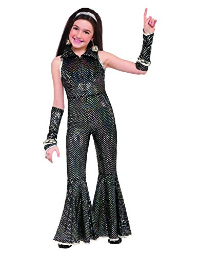 [Forum Novelties Kids Disco Jumpsuit, Multicolor, Small] (Abba Jumpsuit Costume)