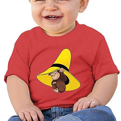 Quxueyuannan Curious George Washed Cotton Baby Boy Shirt Cute Summer T Shirt Funny