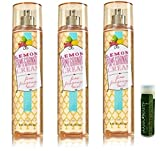 organic bath and body - LEMON POMEGRANATE CREAM Bath & Body Works Gift Set of Fine Fragrance Mist - Pack of 3 with a Jarosa Bee Organic Peppermint Lip Balm by Jarosa Gifts