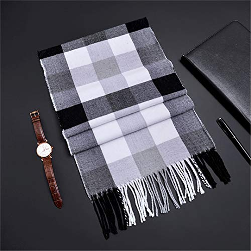 Burberry Women Cashmere Scarf - Winter Scarf Soft Cashmere Scarves Plaid Check Warm Oblong Fringe Unisex Scarf COLOR 2