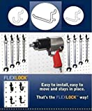WallPeg 75-pk Black Pegboard Hooks – 25 J, 25 L, & 25 Jumbo Flex-Lock Peg Hooks AM-75-B