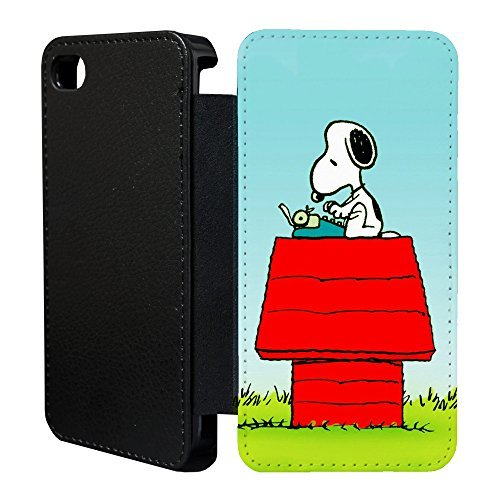 Snoopy Cartoon Flip bedruckt Telefon Flip Case Hülle für Apple iPhone 5 - 5 S - SE - Snoopy - T840