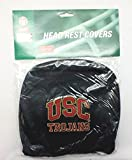Infinity Stock NCAA Embroidered Logo Head Rest Cover Universal Fit - Car Truck SUV & Van, Set Of 2, Auto Interior Accessories (USC Trojans)
