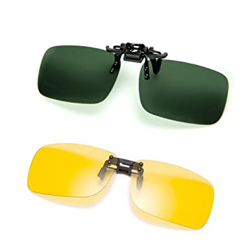 Cyxus [2 paquetes] (Clip On) deportes polarizado gafas de sol con a