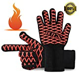 BBQ Grilling Cooking Gloves, 932°F Heat Resistant Oven Gloves for Indoor Outdoor Kitchen / Festival BBQ / Cooking /Baking / Oven Mitts / Pot Holders / Grilling 14