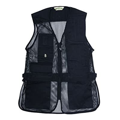 Bob-Allen 30251 240M Left Hand Shooting Vest, Black, X-Small