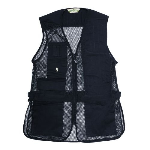 Bob-Allen Shooting Vest, Left Handed, Black, Small